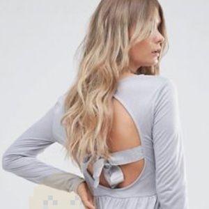 NWT ASOS Brave soul cut out back bow detail dress